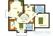78-proekt.ru - Проект Одноквартирного Дома №116.  План Второго Этажа