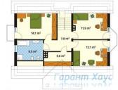 78-proekt.ru - Проект Одноквартирного Дома №231.  План Второго Этажа