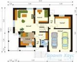 78-proekt.ru - Проект Одноквартирного Дома №238.  План Первого Этажа