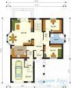 78-proekt.ru - Проект Одноквартирного Дома №230.  План Первого Этажа