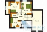 78-proekt.ru - Проект Одноквартирного Дома №27.  План Второго Этажа