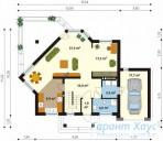 78-proekt.ru - Проект Одноквартирного Дома №274.  План Первого Этажа