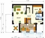 78-proekt.ru - Проект Одноквартирного Дома №185.  План Первого Этажа
