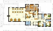 78-proekt.ru - Проект Гостиницы №3.  План Первого Этажа