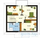 78-proekt.ru - Проект Одноквартирного Дома №223.  План Второго Этажа