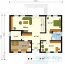 78-proekt.ru - Проект Одноквартирного Дома №221.  План Первого Этажа