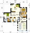 78-proekt.ru - Проект Одноквартирного Дома №98.  План Первого Этажа