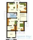 78-proekt.ru - Проект Одноквартирного Дома №113.  План Второго Этажа