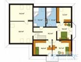 78-proekt.ru - Проект Одноквартирного Дома №201.  План Второго Этажа