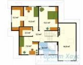 78-proekt.ru - Проект Одноквартирного Дома №28.  План Второго Этажа