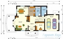 78-proekt.ru - Проект Одноквартирного Дома №56.  План Первого Этажа