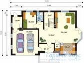 78-proekt.ru - Проект Одноквартирного Дома №131.  План Первого Этажа