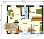 78-proekt.ru - Проект Одноквартирного Дома №122.  План Первого Этажа