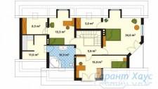 78-proekt.ru - Проект Одноквартирного Дома №141.  План Второго Этажа