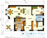 78-proekt.ru - Проект Одноквартирного Дома №19.  План Первого Этажа
