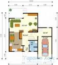 78-proekt.ru - Проект Одноквартирного Дома №273.  План Первого Этажа