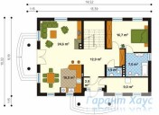 78-proekt.ru - Проект Одноквартирного Дома №239.  План Первого Этажа