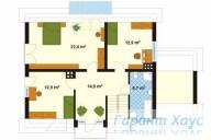 78-proekt.ru - Проект Одноквартирного Дома №128.  План Второго Этажа