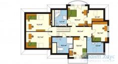 78-proekt.ru - Проект Одноквартирного Дома №8.  План Второго Этажа