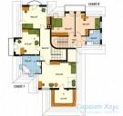 78-proekt.ru - Проект Двухквартирного Дома №21.  План Второго Этажа