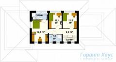 78-proekt.ru - Проект Одноквартирного Дома №302.  План Второго Этажа
