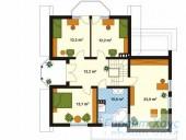 78-proekt.ru - Проект Одноквартирного Дома №152.  План Второго Этажа
