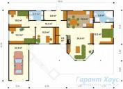 78-proekt.ru - Проект Одноквартирного Дома №110.  План Первого Этажа