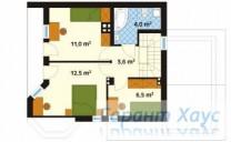 78-proekt.ru - Проект Одноквартирного Дома №145.  План Второго Этажа