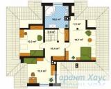 78-proekt.ru - Проект Одноквартирного Дома №329.  План Второго Этажа