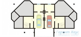 78-proekt.ru - Проект Двухквартирного Дома №23.  План Подвала