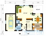78-proekt.ru - Проект Одноквартирного Дома №225.  План Первого Этажа