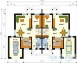 78-proekt.ru - Проект Двухквартирного Дома №7.  План Первого Этажа