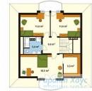 78-proekt.ru - Проект Одноквартирного Дома №69.  План Второго Этажа