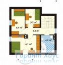 78-proekt.ru - Проект Одноквартирного Дома №32.  План Второго Этажа