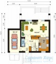 78-proekt.ru - Проект Одноквартирного Дома №303.  План Первого Этажа