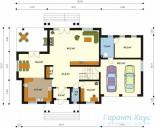78-proekt.ru - Проект Одноквартирного Дома №121.  План Первого Этажа