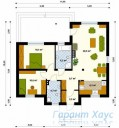 78-proekt.ru - Проект Одноквартирного Дома №47.  План Первого Этажа