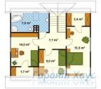 78-proekt.ru - Проект Одноквартирного Дома №182.  План Второго Этажа