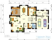 78-proekt.ru - Проект Одноквартирного Дома №344.  План Первого Этажа