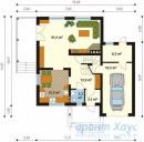 78-proekt.ru - Проект Одноквартирного Дома №252.  План Первого Этажа