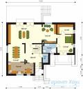 78-proekt.ru - Проект Одноквартирного Дома №249.  План Первого Этажа