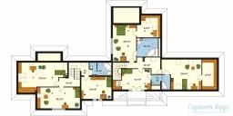 78-proekt.ru - Проект Двухквартирного Дома №10.  План Второго Этажа