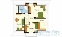 78-proekt.ru - Проект Одноквартирного Дома №68.  План Второго Этажа