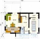 78-proekt.ru - Проект Одноквартирного Дома №175.  План Первого Этажа