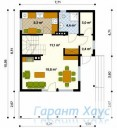 78-proekt.ru - Проект Одноквартирного Дома №293.  План Первого Этажа
