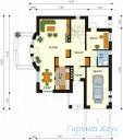 78-proekt.ru - Проект Одноквартирного Дома №147.  План Первого Этажа