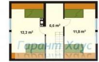 78-proekt.ru - Проект Дачного Дома №12.  План Второго Этажа