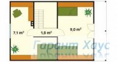 78-proekt.ru - Проект Дачного Дома №3.  План Второго Этажа