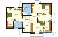78-proekt.ru - Проект Одноквартирного Дома №240.  План Второго Этажа