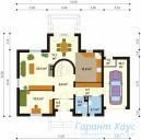 78-proekt.ru - Проект Одноквартирного Дома №319.  План Первого Этажа